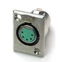 Switchcraft D5F 5-Pin Female XLR Panel/Chassis Mount Connector