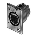 Switchcraft D6FBX D Series 6 Pin XLR Female Silver Pins / Black Finish
