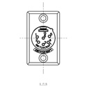Switchcraft D6M Male 6-Pin Rectangular Metal Shell XLR Chassis Mount