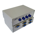 4 Port Manual DB9 Share Switch Box - Metal