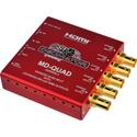 Decimator MD-QUAD Miniature (3G/HD/SD) Quad Split Multiviewer with HDMI - Version 3