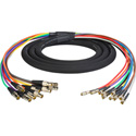 3G/HD-SDI Gepco VS10230 10-Channel DIN1.0/2.3 to BNC Female Video Adapter Snake Cable 3 Foot