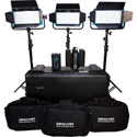 Dracast DRDP3LBLK Location Plus Kit - Bi-Color Light Kit with Li-Ion Batteries