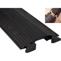 Duralite 5 Foot Floor Cord Protector With Single 1.5 Inch x 0.5 Inch Channel - Black