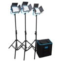 Dracast DRSP-LK-3X500-BNS Bi-Color 3200K-5600K X3 LED500B Silver Series Light Kit - with NPF Battery Plates & Soft Case