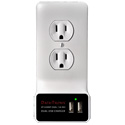 Dual USB Charging Wall Plate for 15-Amp AC Outlets - White