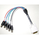 TecNec DVI-A Male to 5 BNC Female 1ft Breakout Cable
