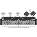 Embrionix emBOX-MBR-18 Rackmount Bracket Supporting 18 emBOX (2RU)