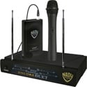 Nady ENC Duet HT/LT/O 2-Channel VHF Wireless Lav/Handheld Mic System - Channel P / R 206.350MHz-212.100 MHz