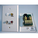 Ivory Cat5 Wall Plate with BNC Video and Stereo RCA Audio