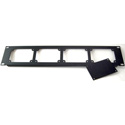 ETS PA207 2u 19in Rack Mount Panel w 3 Blank Plates - Holds up to 4 InstaSnakes