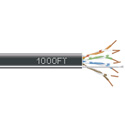 Black Box EYN860A-PB-1000 GigaBase 350 CAT5e 350-MHz Solid Bulk Cable Plenum 1000-ft. (304.8-m) - Black