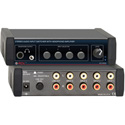 RDL EZ-HSX4 4x1 Stereo Audio Input Switcher with Headphone Amp