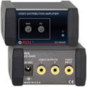 RDL EZ-VDA2R 1x2 NTSC/PAL Video Distribution Amplifier on RCA