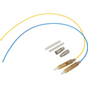 Camplex Lemo F2 SMPTE 3K.93C Pre-polished Fusion Splice Kit - Yellow and Blue Fiber Pair - 6 inch