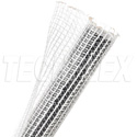 TechFlex - 1 Inch F6-Self Wrap Sleeving Clear-White 100ft
