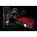 Focusrite Scarlett Solo Studio 2nd Generation Recording Package for Mac or PC