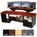 Omnirax Force 24 Audio Video Workstation (Mahogany Formica)