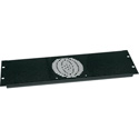 Mid-Atlantic FP-1 Fan Panel 1 Fan Black Brushed Finish 19in 3RU