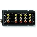 RDL FP-AVDA4 Stereo Audio/Video Distribution Amp - 1x4 - RCA Jacks