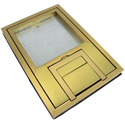 FSR FL-200-B-C U-Access Floor Box Cover with 1/2 Inch Brass Square Flange (Lift Off Door)
