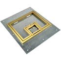 FSR FL-500P-B-C FL-500P Cover With 1/2 Inch Brass Carpet Flange (Lift off door)