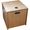 FSR HBM-LG-MPL 22 Inch Cube with AC USB Charger and TC-WC1 Qi Wireless Charger - Maple