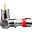 ICM FSRCA59URA RG59by59 Quad RCA Right Angle Connector Red 25pk