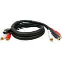 S-Video/Dual RCA Audio Gold Dubbing Cable 10 Foot