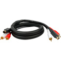 S-Video/Dual RCA Audio Gold Dubbing Cable 15 Foot