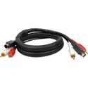 S-Video/Dual RCA Audio Gold Dubbing Cable 3 Foot