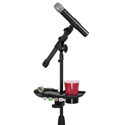 Gator Frameworks GFW-MICACCTRAY Mic Stand Accessory Tray with Drink Holder