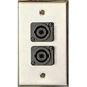 Contractor Series Wall Plate with 2 SspeakON Style Connectors