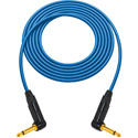 Sescom Hi Clarity 1/4 Inch Right Angle Instrument Cable 3 Foot Blue