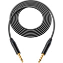 Sescom / Canare GS-6 Instrument Cable w/Neutrik XS 1/4 Phone Plugs 3 Foot Black