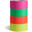 MicroGaffer Fluorescent GT-4567 1-Inch x 8-Yard Gaffer Tape 4-Roll Multi-Pack