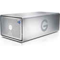 G-Tech 0G05748 G-RAID Removable with 2x Thunderbolt 3 2-Bay Storage and Enterprise Class 7200RPM HDD - 8TB - Silver