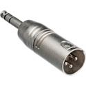 XLR3M to 1/4 Inch Male TRS Adaptor
