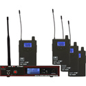 Galaxy Audio AS-1100-4 Four person Wireless Monitor System Code D 584-607 MHz