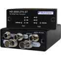 Multidyne HD-3000-2RX-ST Dual 1 Way Multi-Rate Serial Digital Video Transmitter - Two Fibers