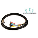 Belden/Kings High Density VGA Male to 5-Channel BNC Male Breakout Cable - 3 Foot
