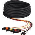 2 Channel HD-SDI Video and 4-Channel XLR Audio Snake Cable 25 Foot