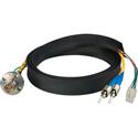 Camplex FCS015A-FR Canare Hybrid Fiber Optic Receptacle Cable SMPTE/ARIB w/ ST - Female 1ft