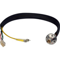 Camplex LEMO FXW to Dual ST & 6-Pin Amp Power Fiber Breakout Cable 6 Inch