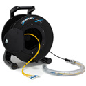 Camplex 4-Channel LC Single Mode Fiber Optic Tactical Snake on Reel 500 Ft W/Protective Pulling Sleeve