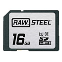 Hoodman RAWSDHC16GBU1 Raw Steel Class 10 SDHC Card - 16GB