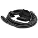 Hosa WTI-148G Hook and Loop Organizer - Black - Center-pass Gap - 0.75-Inch x 8 in