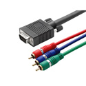 Hall Research CHD15-RGB-6 HD15 to 3-RCA Component Video Cable 6 Ft.