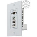 Hall Research EX-HDU-WP HDMI and USB Extension on CAT6 Decora Wall Plate Sender