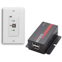 Hall Research U22-160-DP USB 2.0 Over UTP Extender Decora Wall Plate with 2-Port Hub